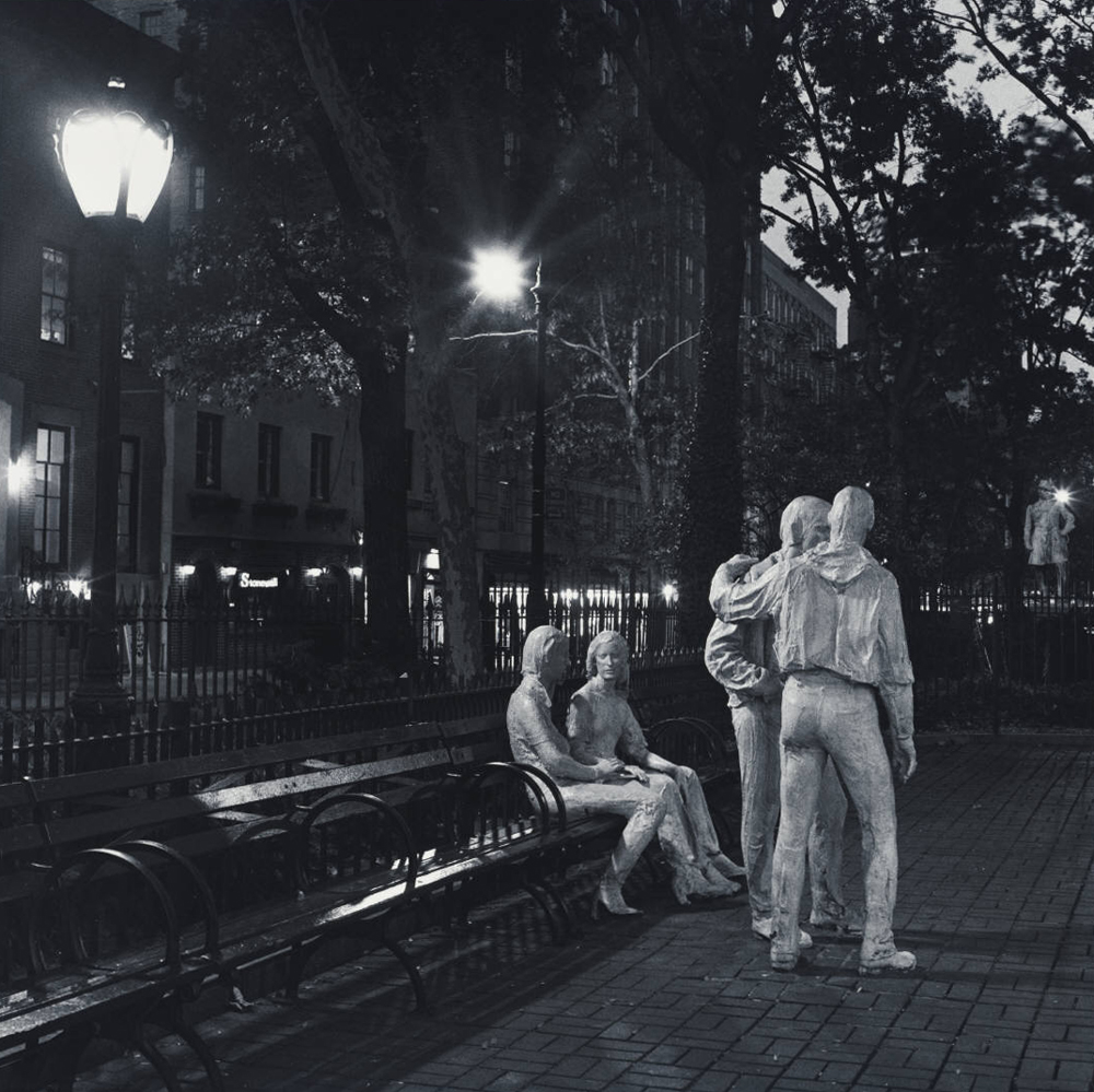 'Gay Liberation' sculpture, Sherdian Square, NYC,