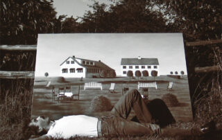 Man with Landscape Painting, 1980