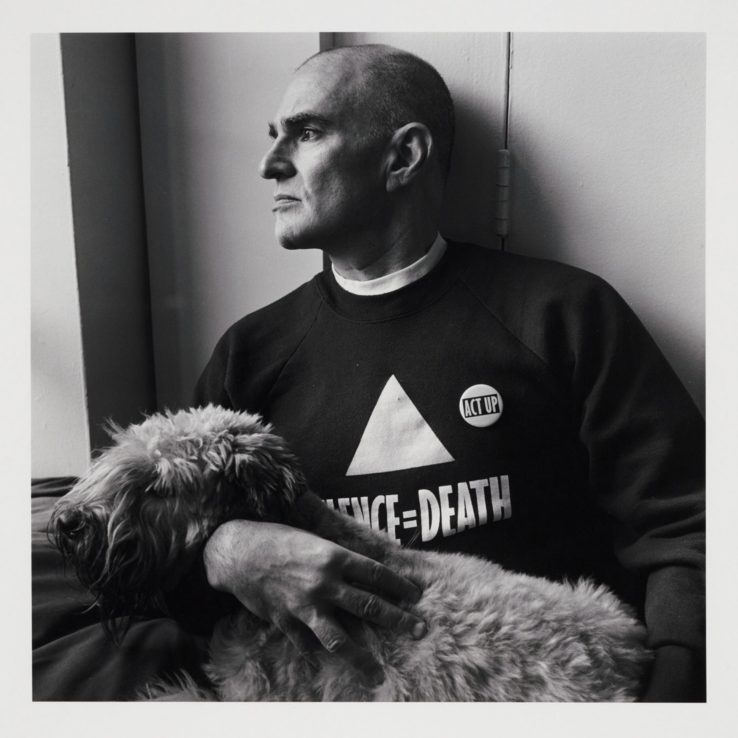 Larry Kramer with Molly, 1989
