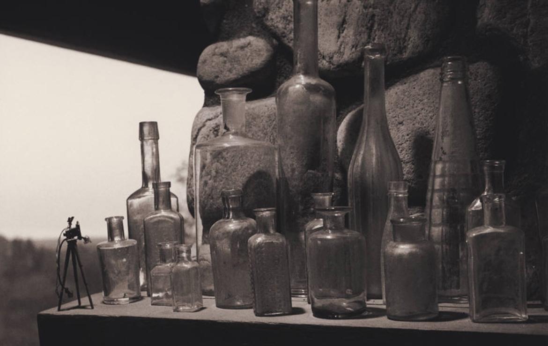 Photographic Still Life (bottles and miniature tripod), 1989-1170-739